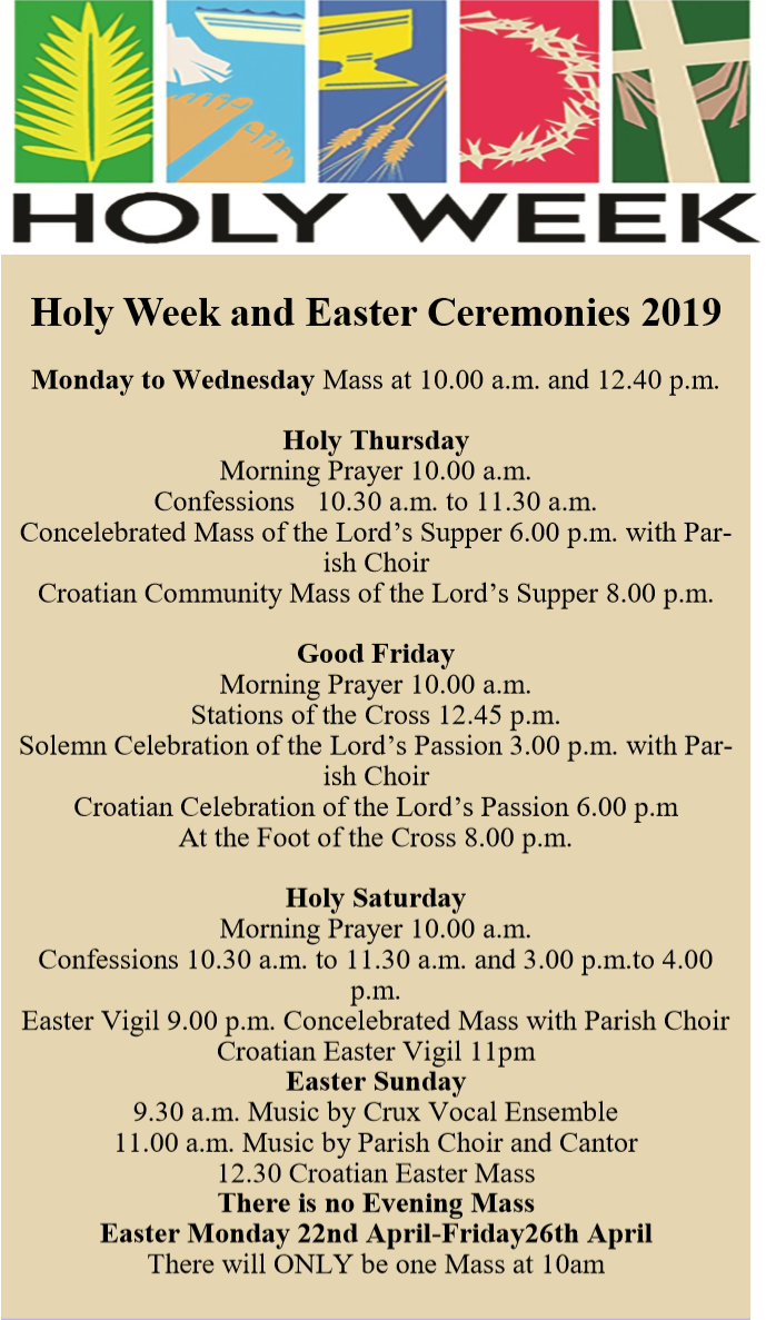 Easter Ceremonies 2019